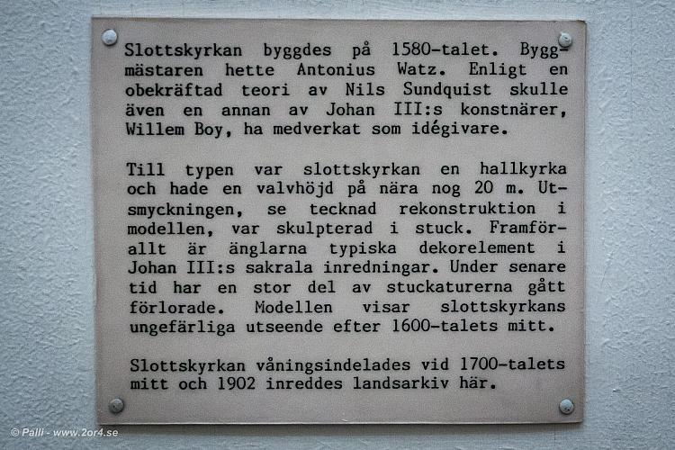 Om Johan III:s slottskyrka