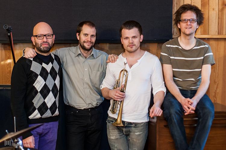 Trinity Skivinspelning.Ali Djeridi, Daniel Lantz, Karl Olandersson och Andreas Hellkvist.