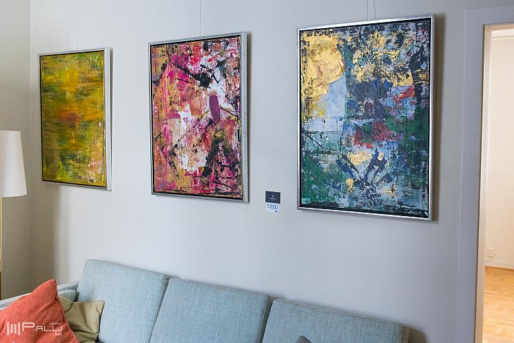 Anneli Särnblad Pedersons konst på sveriges residens i Reykjavik