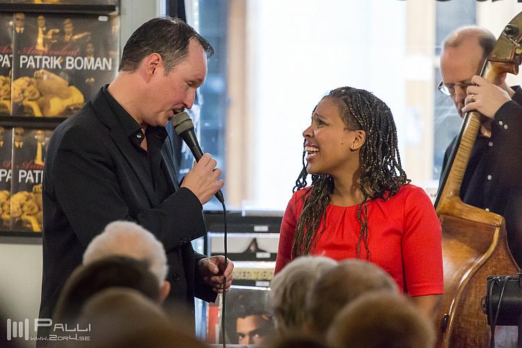 Peter Asplund and Melanie Scholtz. Stockholm Jazzfestival 2015.